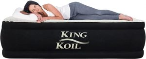 King Koil Queen Air Mattress with Built-in Pump