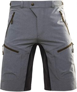 Hiauspor Mens Baggy MTB Shorts with Pockets