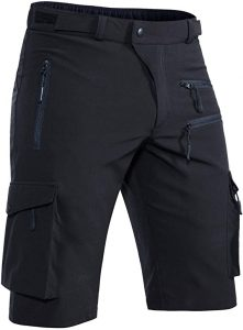 Hiauspor Men's MTB Shorts Quick Dry with Zipper Pockets
