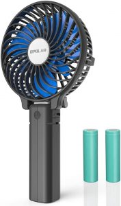 Opolar Small Handheld Rechargeable Camping Fan with Foldable Design