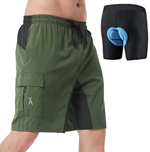 Priessei Men's Cycling Shorts Loose-Fit Padded