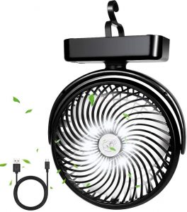 Yostyle Battery Powered Camping Fan with LED Lantern