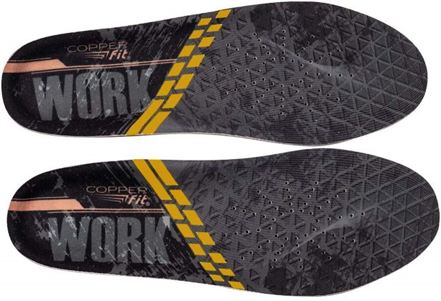 Copper Fit Work Gear Comfort Insoles Arch Support