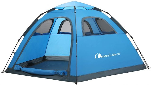 Moon Lence Instant Pop Up Family Camping Tent